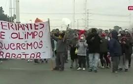 30/06/2021: Puente La Noria: protesta y caos de tránsito