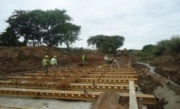 Avanza la obra del entubamiento del Arroyo Antoñico, de Paraná