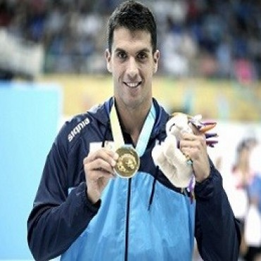 Grabich alcanzó el oro en los 100 metros libres de natación