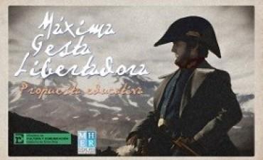 El Cruce de los Andes en una actividad educativa