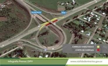 19/07/2017: Desvío del tránsito en el cruce de la ruta 12 y el Acceso Norte a Paraná