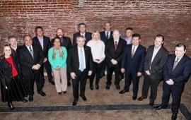 03/07/2019: Bordet participó de un almuerzo con Alberto Fernández y otros gobernadores del PJ