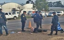 18/07/2019: Llevaban droga encima, chocaron y terminaron atropellando a un policía en ruta 18
