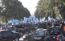09/07/2020: Un operativo policial del ministro de Seguridad de Santa Fe intentó frenar una marcha a favor de Vicentin