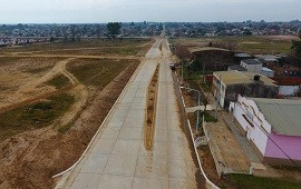 19/07/2021: Francolini detalló cuales son los trabajos que restan para habilitar el tránsito en boulevard Yuquerí