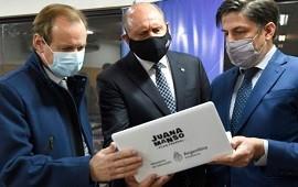 29/07/2021: Bordet, Perotti y Trotta, parte de un convenio que significará miles de netbooks para la provincia