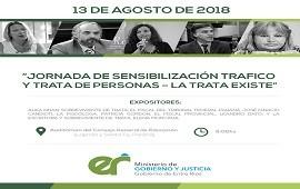 03/08/2018: Se realizará una jornada de sensibilización sobre tráfico y trata de personas