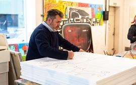14/08/2018: El artista plástico Milo Lockett expondrá sus cuadros en la Fundación Magma, de Concordia