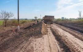 20/08/2018: Construyen un desvío para tránsito pesado en el acceso a XX de Septiembre