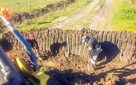 20/08/2018: Se trabaja en la conservación de caminos del departamento Uruguay