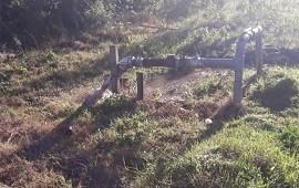 15/08/2019: Vándalos provocaron roturas y daños en una bomba de agua