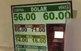 12/08/2019: PASO 2019   El dólar rompió el récord histórico y se vende a más de $60 tras el triunfo del Frente de Todos