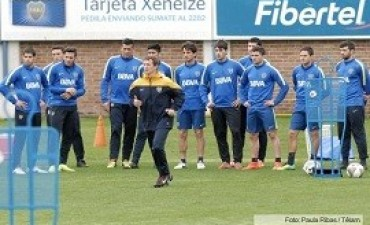 entrenamiento en Casa Amarilla Boca repetirá el jueves ante Rosario Central el mismo equipo que enfrentó a Racing