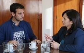 Julián Alvarez habló con Trimarco sobre los avances en la lucha contra la trata
