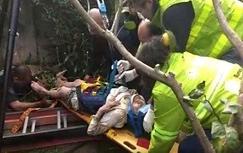 08/09/2018: impactante rescate de una abuela de 95 años que cayó a un pozo ciego