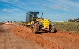 14/09/2018: Continúa el trabajo de reposición de material calcáreo desde Pronunciamiento a 1º de Mayo
