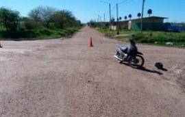 19/09/2019: Fatal choque entre una moto y un utilitario: una mujer de 72 años falleció tras golpearse la cabeza
