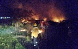 19/09/2019: Un importante incendio se registró en la zona sur de Concordia