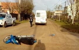 23/09/2019: Motociclista resultó gravemente herido tras chocar con una camioneta municipal