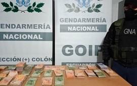 11/09/2020: Gendarmería decomisó más de $2 millones en dos procedimientos en la Ruta Nº14