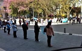 21/09/2020: Enfermeros concordienses protestaron de manera pacífica frente a la Municipalidad