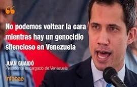 """30/09/2020: Juan Guaidó le respondió al gobierno argentino: """"No podemos voltear la cara mientras hay un genocidio silencioso en Venezuela"""""""