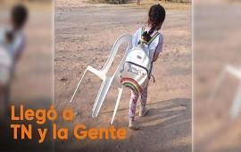 06/09/2021: Chaco: alumnos de una escuela no tienen agua corriente y tienen que llevar sus sillas para poder estudiar