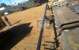 Concluyó el cerramiento perimetral del Polideportivo de Arroyo Barú