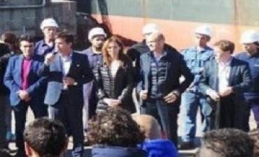 Vidal y Dietrich anunciaron una inversión de 200 millones de dólares para ampliar la capacidad del puerto de Quequén