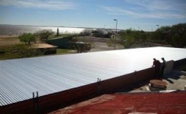 La nueva cubierta de techos para la escuela Nº 68 de Federación presenta un avance del 62 por ciento