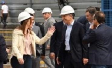 Junto a Vidal, Macri puso en marcha la tuneladora para soterrar el Sarmiento