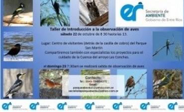 Se realizará un taller de introducción a la observación de las aves en el Parque San Martín