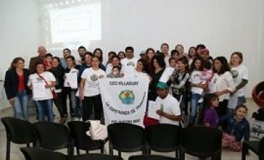 04/10/2017: Jóvenes villaguayenses del programa Cuidadores de la Casa Común recibieron herramientas