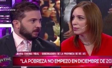 13/10/2017: Nuevo round entre Diego Brancatelli y María Eugenia Vidal