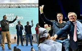 23/10/2019: Bordet en Paraná y Cresto en Buenos Aires, en el cierre de campaña del Frente de Todos