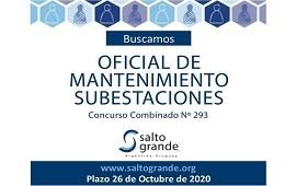 12/10/2020: Llamado a Concurso de la Comisión Técnica Mixta de Salto Grande