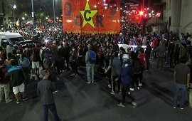 07/10/2020: Organizaciones sociales instalaron carpas frente al Ministerio de Desarrollo Social