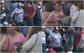 15/10/2021: Clientelismo en vivo: una cámara de TN captó a militantes tomando lista y repartiendo plata en plena protesta social