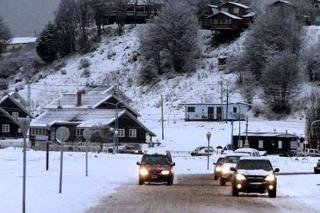 Nieva en Ushuaia a dos días del comienzo de diciembre