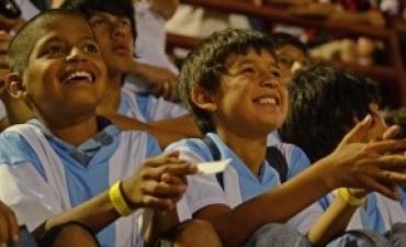 Cada vez más niños entrerrianos participan del programa Los gurises van a la cancha