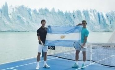 Los dos tenistas número uno promocionaron los Hielos Milenarios