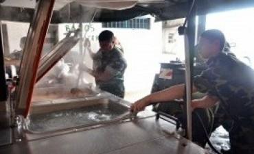 Las Fuerzas Armadas continúan las tareas de apoyo en la provincia de Buenos Aires