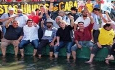 Boudou, D'Elia, Mariotto y Esteche fueron echados del acto