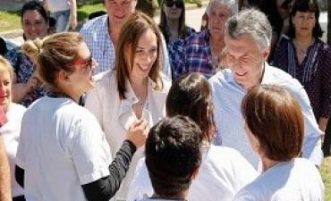 Macri y Vidal recorren la localidad bonaerense de Suipacha