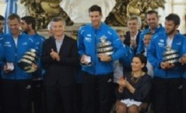 Macri y los campeones de la Davis: