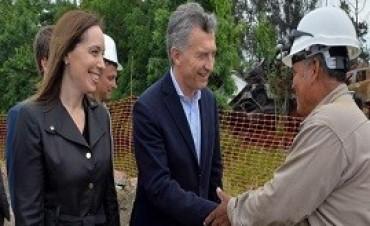 01/11/2017: Macri, junto a Vidal , recorrió obras de entubamiento en San Fernando