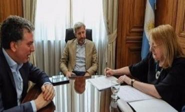22/11/2017: Frigerio recibió a Alicia Kirchner que firmó el acuerdo fiscal