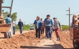 05/11/2018: Continúan los trabajos de reparación del acceso a San Justo, en el departamento Uruguay