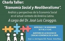 06/11/2018: Este miércoles se realizará en Paraná una charla sobre economía social