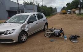 28/11/2018: Un motociclista fue hospitalizado tras protagonizar un violento accidente